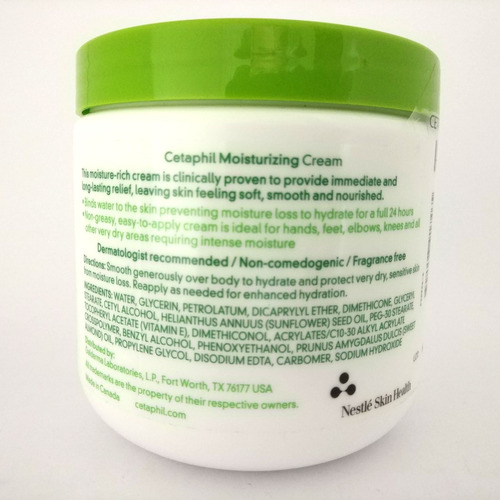 cetaphil moisturing cream sensitive skin 453grs