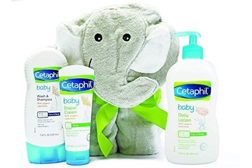 cetaphil para bebe kit baby + toalla elefante- envío hoy