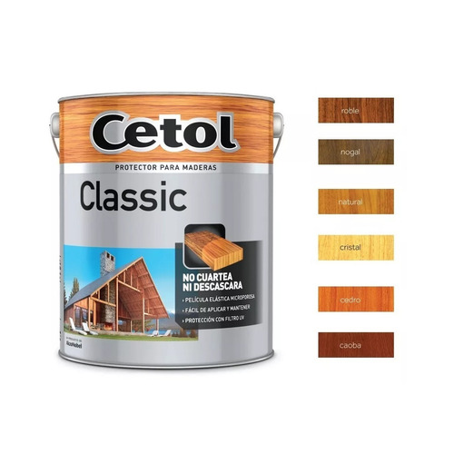 cetol classic satinado 10lts impregnante madera prot pintumm