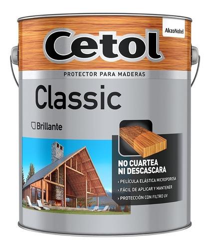 cetol classic satinado  4 litros cristal y colores