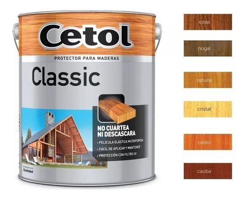cetol  satinado classic 4l protector exterior madera pintumm