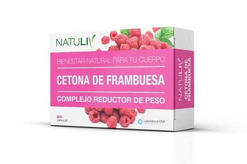 cetona de frambuesa natuliv 60 caps complejo reductor de pes