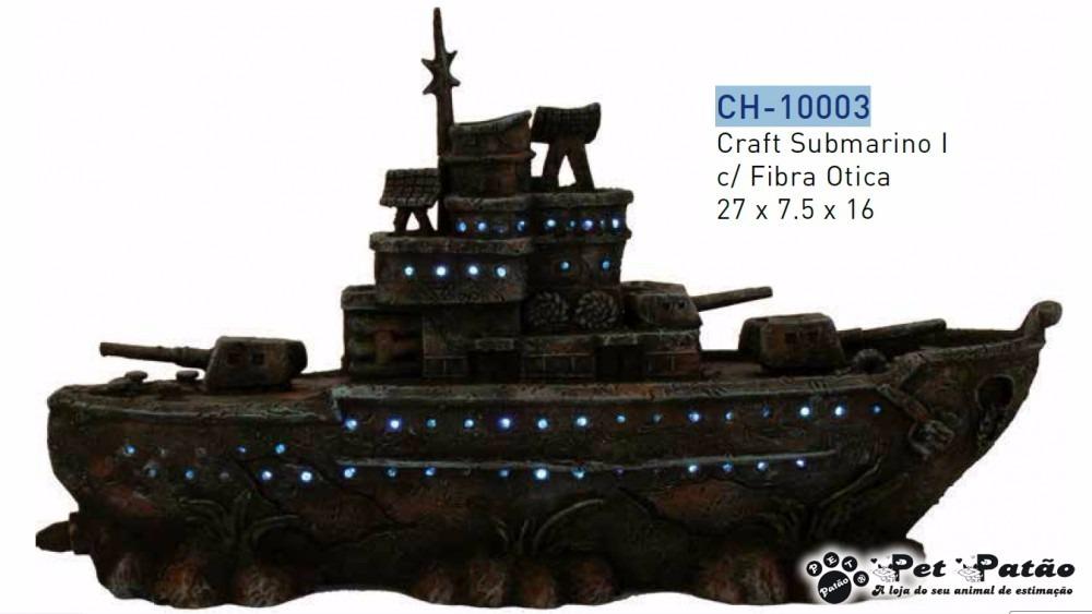 8c3c10958ac6b Ch-10003 Craft Submarino I C fibra Otica 27x7.5x16 Enfeite - R  185 ...