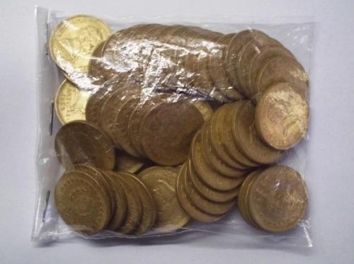 ch artesano revendedor bolsa con 25 monedas $5 1965 bronce