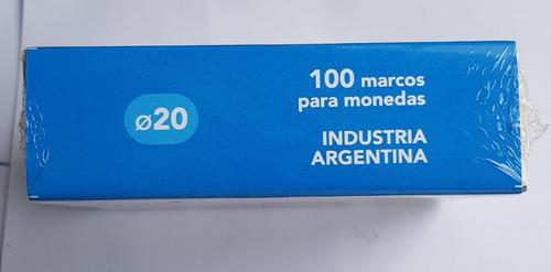 ch c /100 marcos protectores serf cartones para monedas 20mm