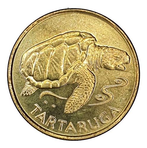 ch c/ cabo verde - 1 escudo 1994 km#27 unc. tortuga