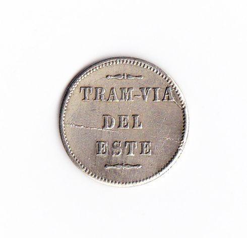 ch tram-via del este pasage 6 cents antigua ficha