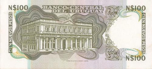 ch uruguay billete bcu no común n$100 serie c unc