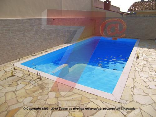 ch110u sobrado novo na praia 3 quartos piscina financia
