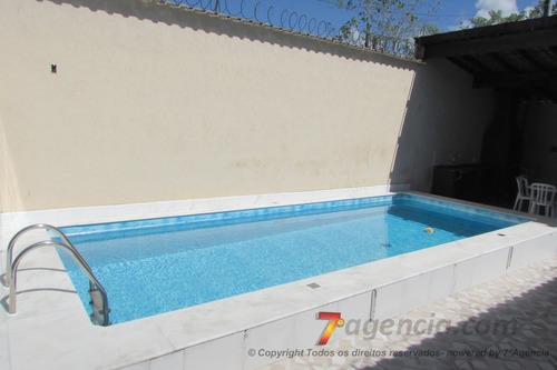 ch60 casa na praia c/ piscina 2 quartos churrasqueira