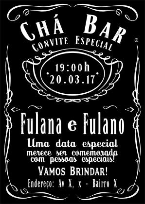 Arte Digital Personalizada Convite Chá Bar R 1700 Em Mercado Livre