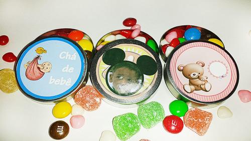 chá de bebê personalizado - kit 60 unidades