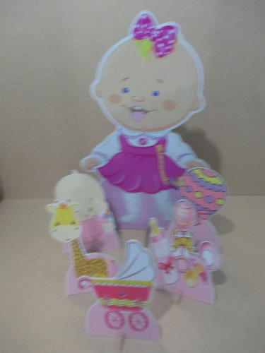 cha de bebe menina display de mesa e chão,personalizado,mdf
