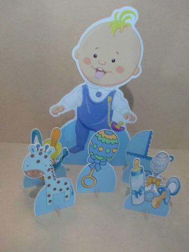cha de bebe menino display de mesa e chão,personalizado,mdf