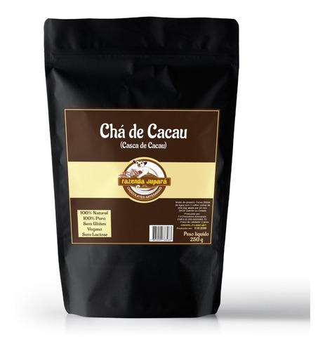 chá de cacau (natural) cascas de cacau - antioxidante 250g