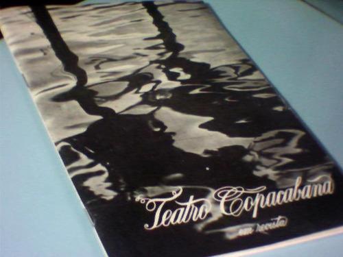 chá e simpatia - teatro copacabana - programa souvenir
