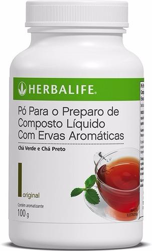 chá herbalife termogenico 100g - produto original