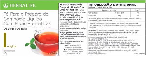 chá herbalife termogenico 50g - produto original
