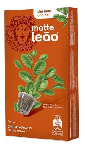 chá leão capsula - mate original 10 unid.