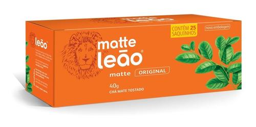 chá matte leão - original 25 saches