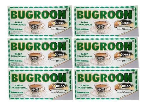 chá misto bugroon emagrecedor 80g 6 caixas c/ 30 saches