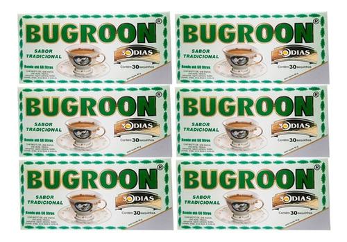 chá misto bugroon emagrecedor 80g 6 x 30 saquinhos