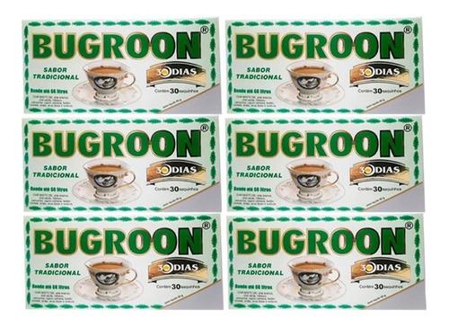 chá misto bugroon original 80g 6 caixas 30 saches