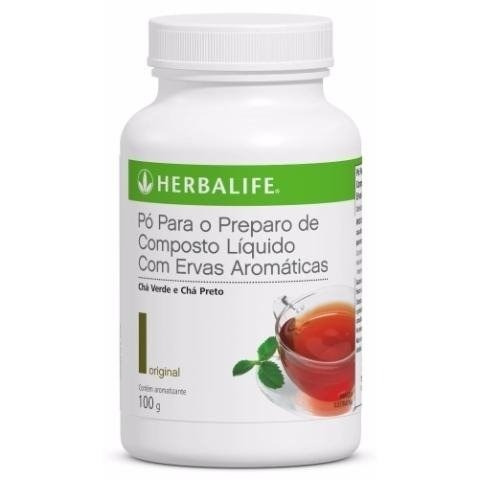 chá original termogênico herbalife 100g - pronta entrega