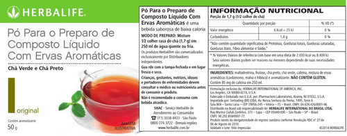 chá verde termogênico herbalife original 50g