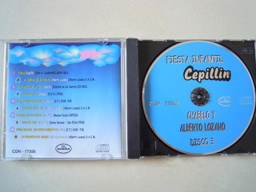 chabelo y alberto lozano cd fiesta infantil cepillin disco 3