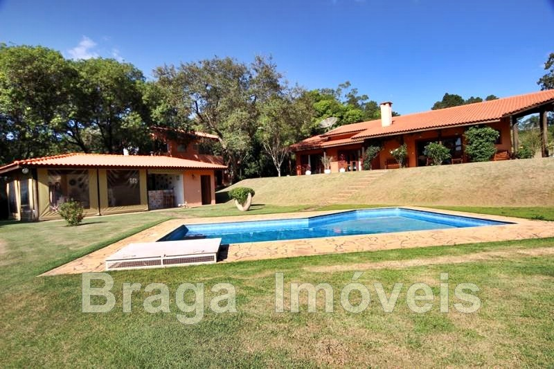 chác. 5000 m²- cond. fechado- 5dorms(2 suites)-piscina-campo