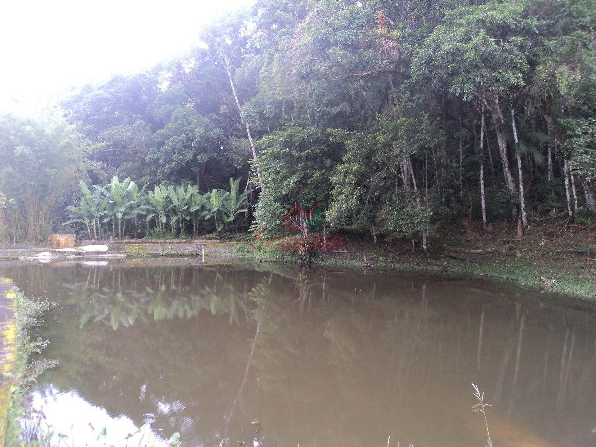chácara a venda em juquitiba com lago repleto de peixes