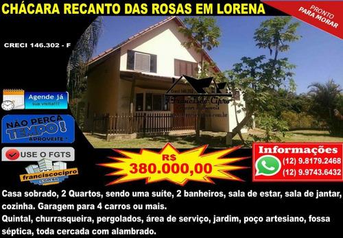 chácara a venda no bairro condominio recanto das rosas em - ch130-1