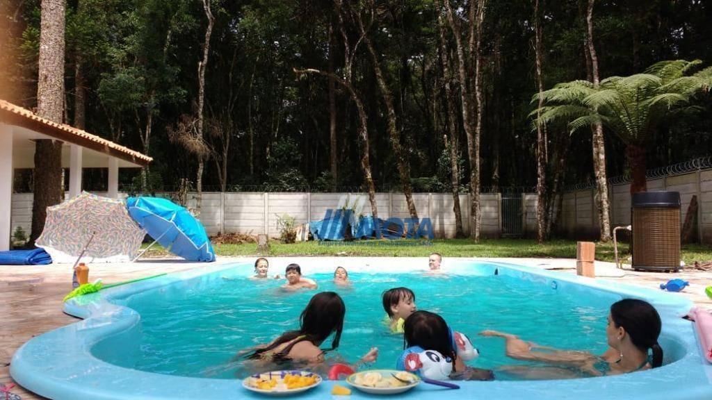 chácara a venda são jose dos pinhais antes do pedágio com 5. 985,53 m2 casa 3 quartos e piscina. - ch0148