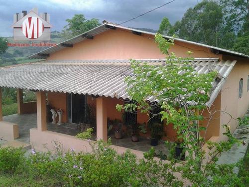 chácara com 03 dormitórios à venda, 5000 m² por r$ 340.000 - rural - socorro/sp - ch0271