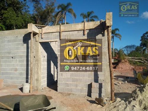 chácara com 2 dormitórios à venda, 1000 m² por r$ 130.000 - chácara nossa senhora aparecida ii - suzano/sp - ch0036