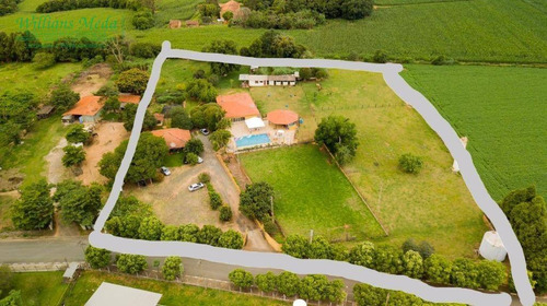 chácara com 2 dormitórios à venda, 13000 m² por r$ 5.900.000,00 - são joaquim - cerquilho/sp - ch0085