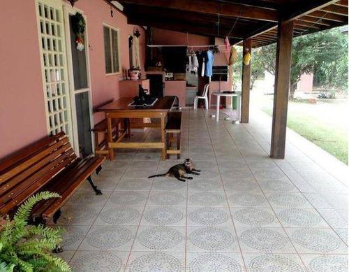 chácara com 2 dormitórios à venda, 1800 m² por r$ 600.000 - loteamento chácaras vale das garças - campinas/sp - ch0288