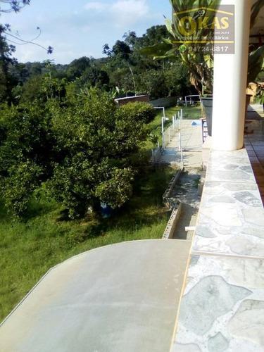 chácara com 2 dormitórios à venda, 2140 m² por r$ 380.000 - chácara nossa senhora aparecida ii - suzano/sp - ch0015