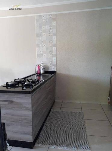 chácara com 2 dormitórios à venda, 800 m² por r$ 160.000 - roseira - ch0084