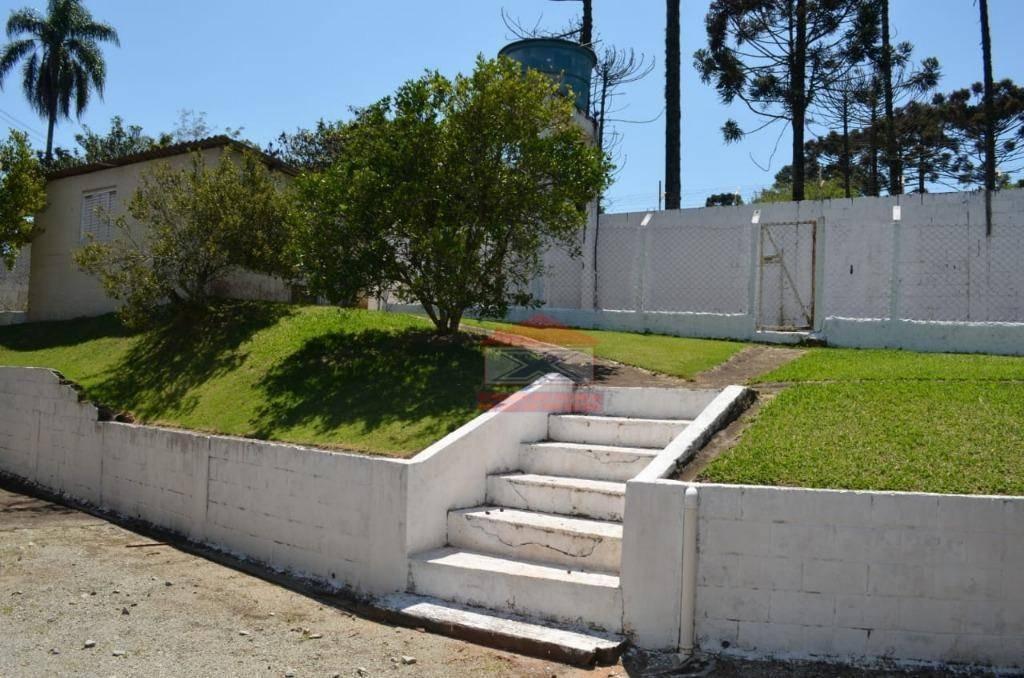 chácara com 3 dormitórios para alugar, 1565 m² por r$ 3.500/mês - chácara nossa senhora de fátima - cotia/sp - ch0283