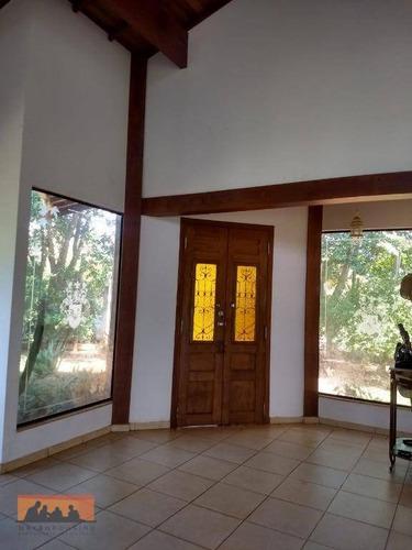 chácara com 3 dormitórios para alugar, 2000 m² por r$ 1.990/mês - loteamento chácaras vale das garças - campinas/sp - ch0027