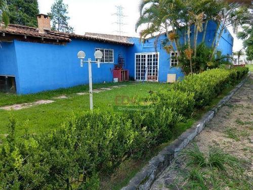 chácara com 3 dormitórios para alugar, 2500 m² por r$ 3.000/mês - residencial novo horizonte - taubaté/sp - ch0106