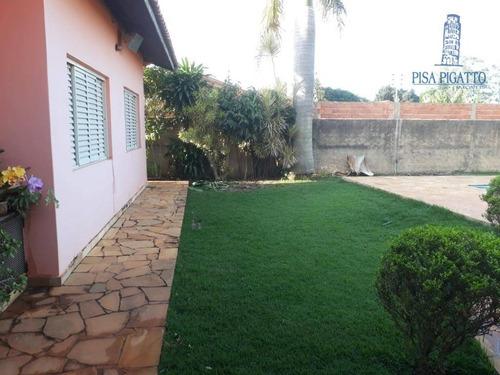 chácara com 3 dormitórios à venda, 1056 m² por r$ 750.000 - chacara itália - cosmópolis/sp - ch0098