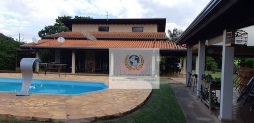 chácara com 3 dormitórios à venda, 1560 m² por r$ 900.000 - loteamento chácaras vale das garças - campinas/sp - ch0066
