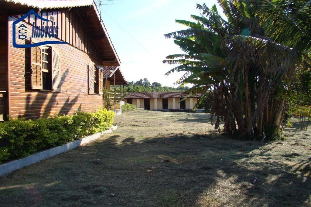 chácara com 3 dormitórios à venda, 5000 m² por r$ 850.000,00 - ouro fino - santa isabel/sp - ch0034