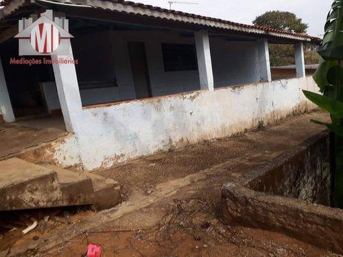 chácara com 3 dormitórios à venda, 8000 m² por r$ 300.000 - ch0312