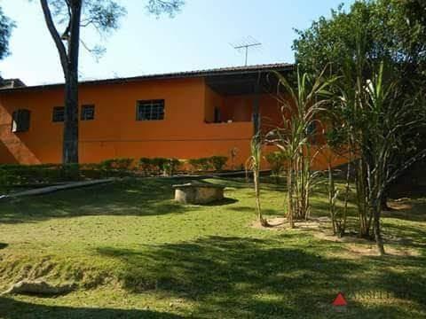 chácara com 4 dormitórios para alugar, 2500 m² por r$ 4.000,00/mês - caetê - são roque/sp - ch0015