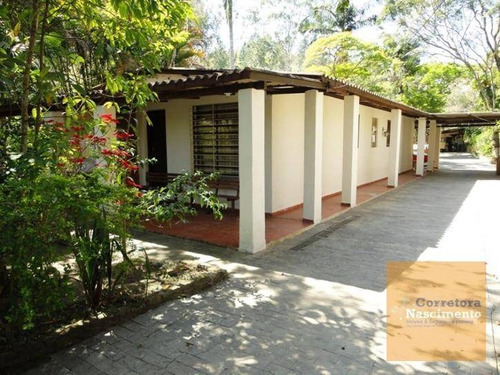 chácara com 4 dormitórios à venda, 40000 m² por r$ 650.000,00 - zona rural - santa branca/sp - ch0056