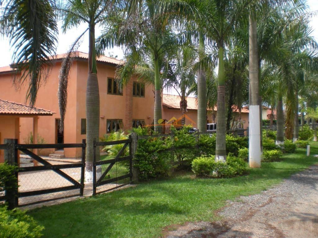 chácara com 5 dormitórios à venda, 2600 m² por r$ 1.250.000 - chácara residencial paraíso marriot - itu/sp - ch0096